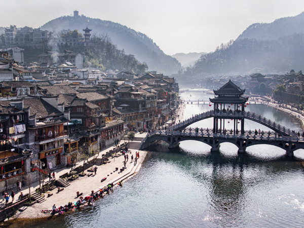 Fenghuang Ancient Town Phoenix Old City In Hunan