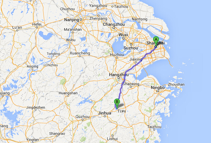 How to Get to Yiwu from Shanghai, Travel to Yiwu from Shanghai