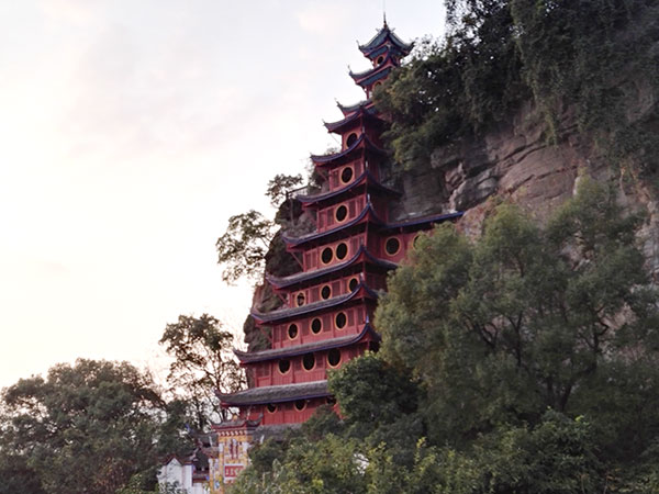 Shibaozhai Chongqing Attractions Yangtze River Sightseeing Yangtze Cruise
