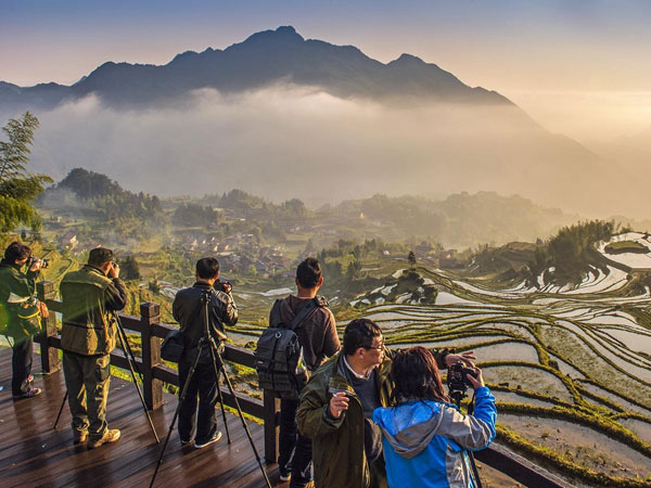 Yunhe rice terrace in zhejiang china one of most for Terraces opening times